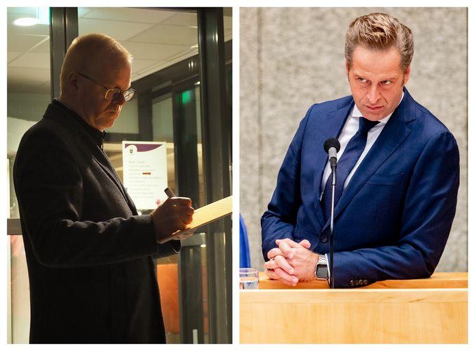 Wethouder Rob Christenhusz (links) en Hugo de Jonge