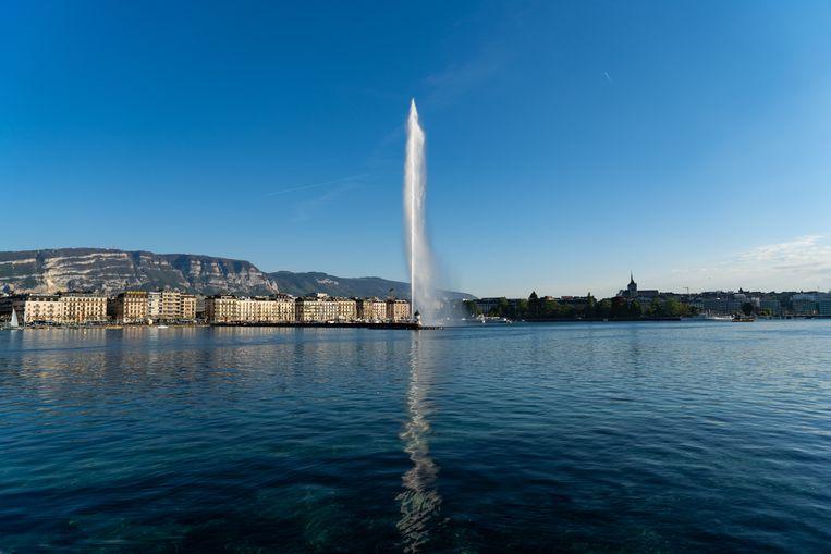 Jet d'eau in Genève, één van de toppers volgens Stephanie Duval.