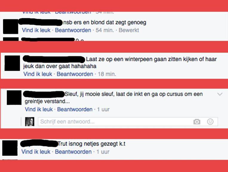Reacties die Elfie Tromp ontving. Beeld