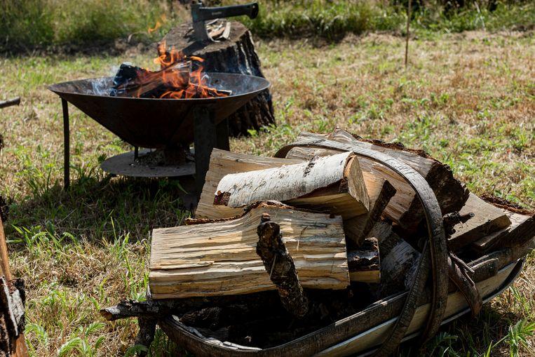 Gekliefde houtblokken hebben twee jaar nodig om te drogen.