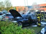 Auto vliegt in brand aan De Stok in Roosendaal