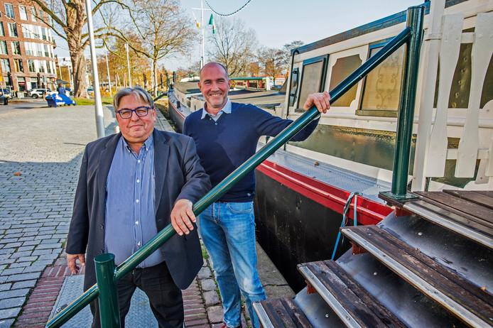 Walter Tempels en Antoon Broekmeulen bij De Albatros.