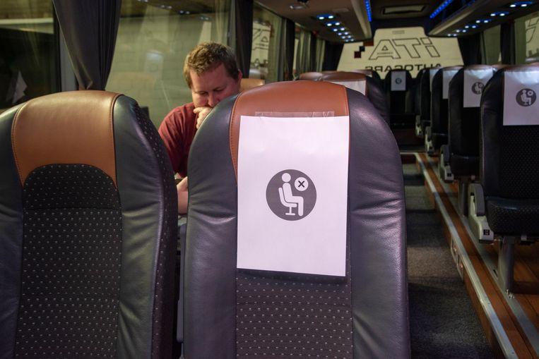 Slechts één zetel op vier is beschikbaar voor passagiers.
