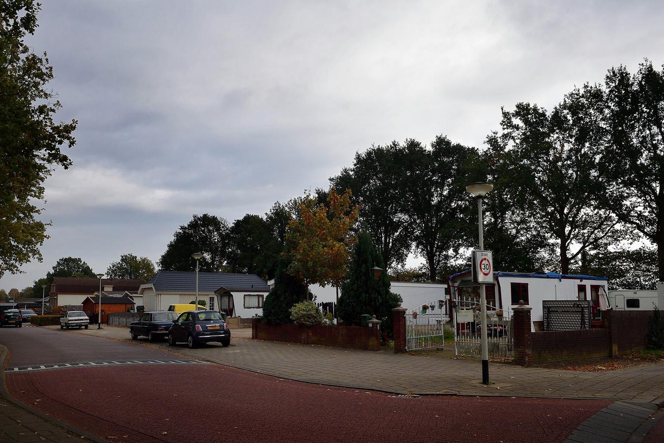 Het woonwagenkamp aan de Sportstraat, ter illustratie.