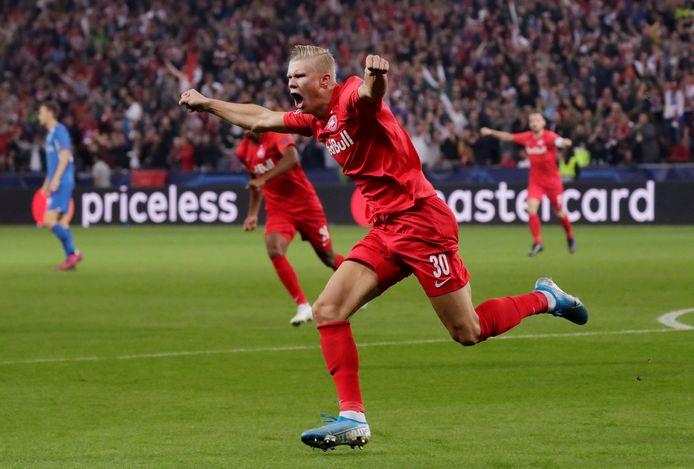 Haaland maakte zijn eerste Champions league hattrick tegen RC Genk vorig jaar in de 6-2 gewonnen wedstrijd.