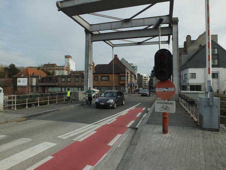 De Tolpoortbrug in Deinze.