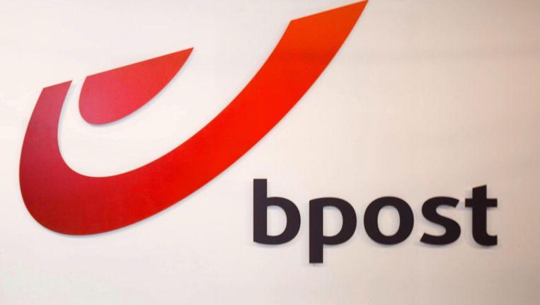 Het logo van Bpost. Beeld epa