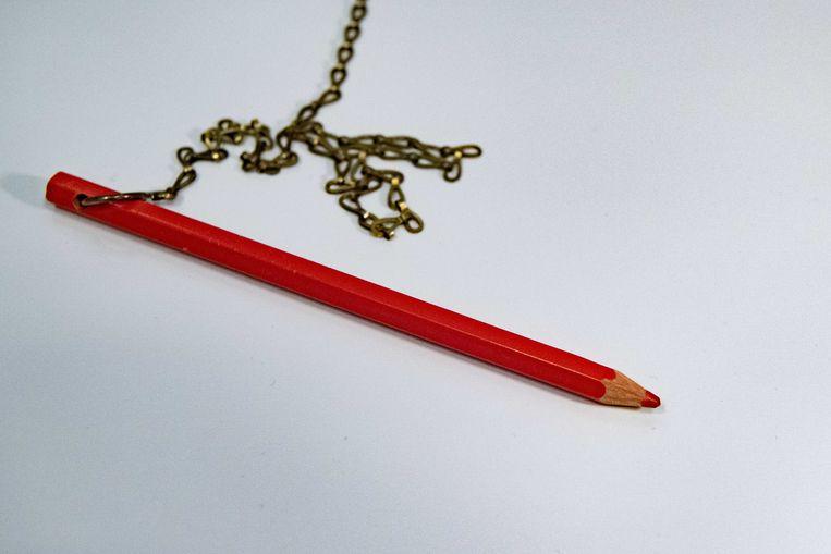 Een rood potlood