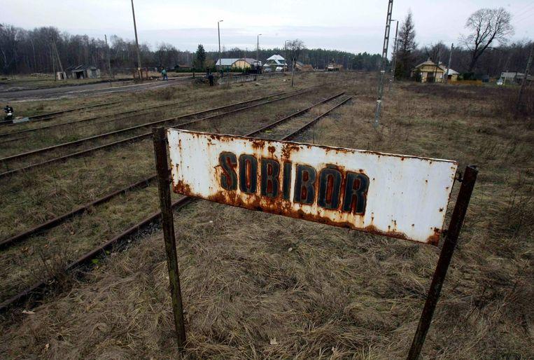 Het treinstation van Sobibor in 2009.