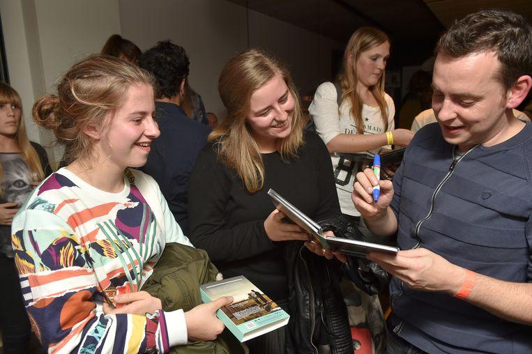 Fans Pauline en Camille Ollivier met Dries 'Kurt' Heyneman