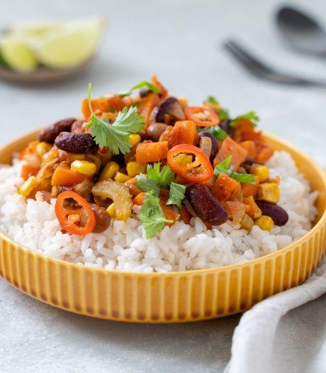 Wat Eten We Vandaag: Vegan chili sin carne met guacamole