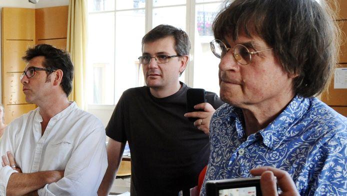 Tignous, Charb et Cabu en 2011.