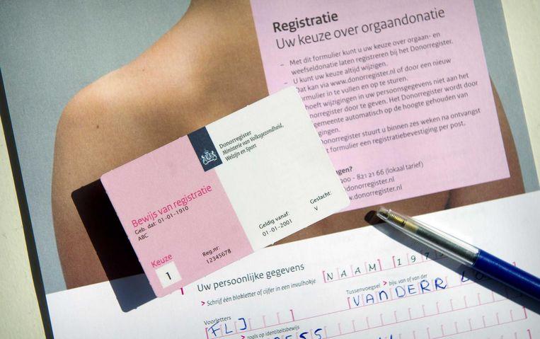 Sinds de aanname van de nieuwe donorwet door de Tweede Kamer dinsdag hebben duizenden mensen zich gemeld bij het Donorregister om hun keuze kenbaar te maken.  Beeld anp