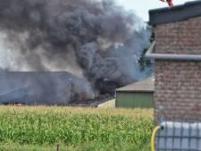 Brand meester in Steenbergen; één loods verloren gegaan, twee gered