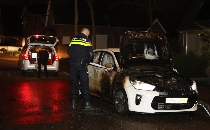 Autobrand in Waardenburg.