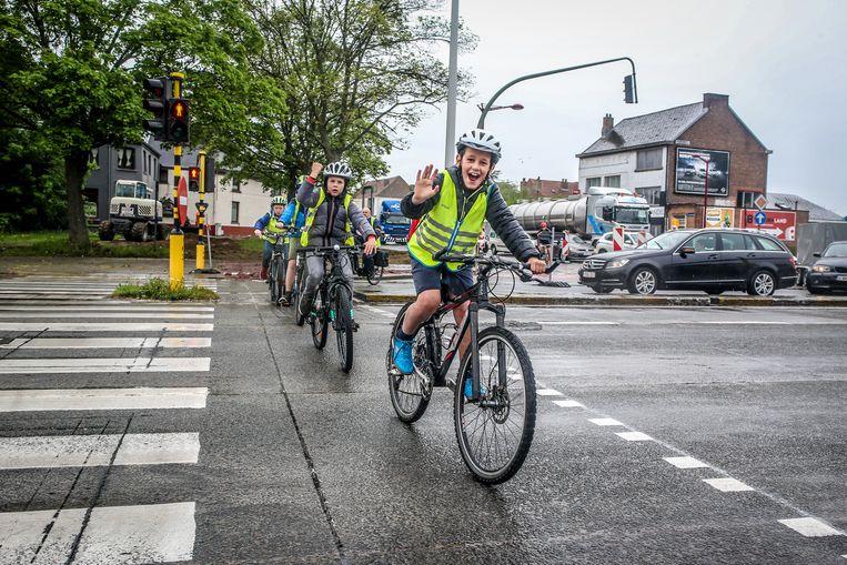 Veilig met de fiets naar school.