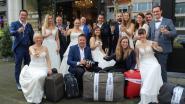 Zeven trouwkoppels die geboekt hadden met Thomas Cook vertrekken samen op reis dankzij huwelijksfotograaf Gino