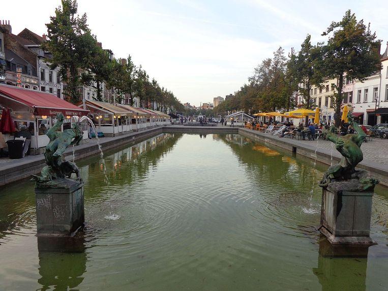 De Vismarkt in Brussel.