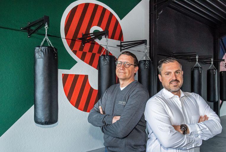 Steve Schrauwen en Dominique De Jonghe in Sugar Boxing Club.