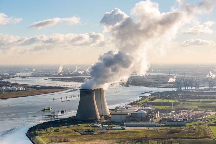de Belgische kerncentrale Doel.