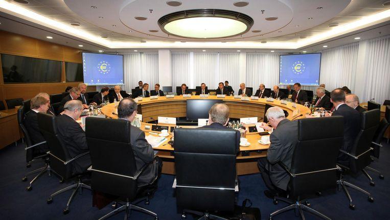 De presidenten van de 19 centrale banken in Europa beslissen bij de ECB in Frankfurt over de rente Beeld ECB