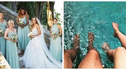 SHOWBITS. Serena is een bruidsmeisje en twee paar verliefde voeten