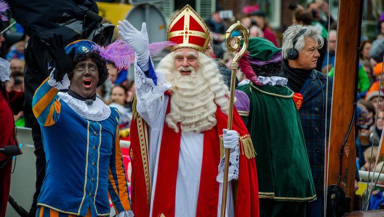 Sinterklaas, vorig jaar bij de intocht in Meppel. Beeld Anp
