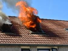 Uitslaande brand in woning aan de Korenbloem in Duiven