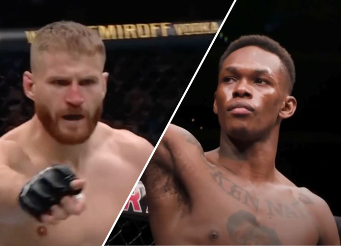 Jan Blachowicz (links) en Israel Adesanya (rechts)