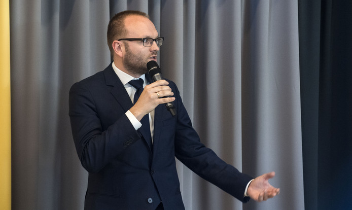 BORCULO - presentatie om 16.00 uur nieuwe wethoudersploeg Berkelland en coalitie-akkoord 2018-2022, in restaurant van raadhuis Borculo. Wethouder Gerjan Teselink van de VVD EDITIE: AC FOTO: Frans Nikkels FN20180508