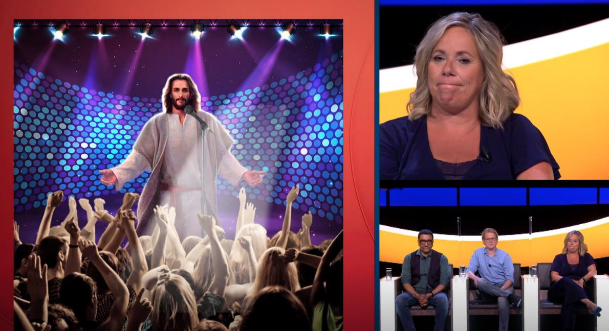 Selma van Dijk struikelt over een Galerij met cryptisch verbeelde musicals, zoals Jesus Christ Superstar.