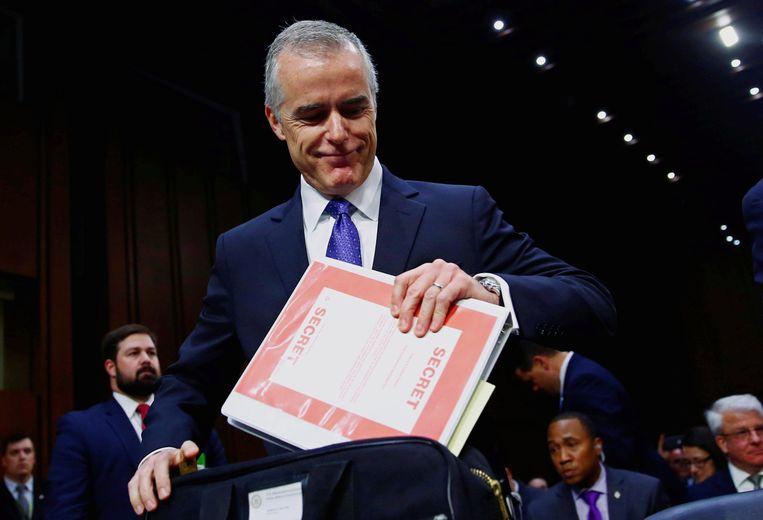 Andrew McCabe vervangt de ontslagen FBI-directeur James Comey. Beeld REUTERS