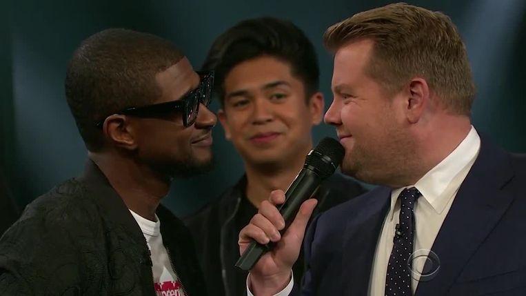 """Usher en James Corden strijden om de titel van """"meest sexy mannelijke zanger"""""""