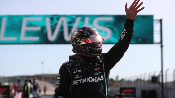 Hamilton mag in Portugal voor de 97ste keer in z'n carrière vanuit pole position vertrekken