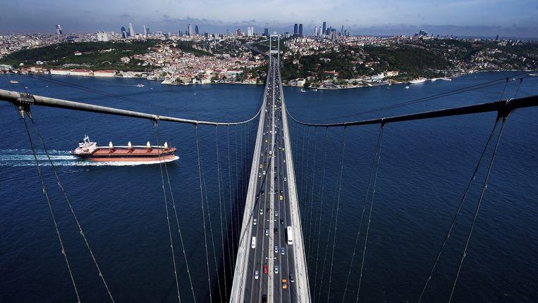 Een brug over de Bosporus