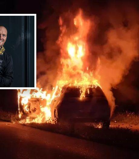 Slechte nacht voor volkszanger Frank van Etten: 'Papa, de auto staat in lichterlaaie'