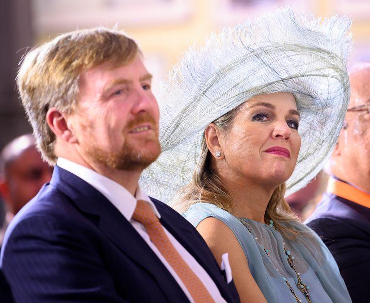 Koning Willem-Alexander en koningin Maxima tijdens hun vijfdaagse staatsbezoek aan India. Beeld ANP