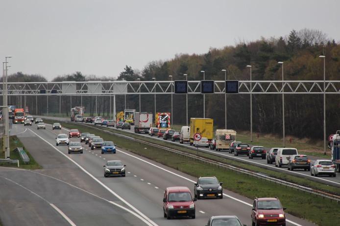 De A1 bij Deventer.