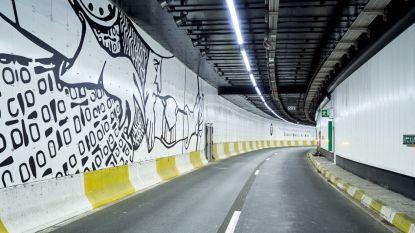 Na twee jaar: Hallepoorttunnel is eindelijk af en heeft een artistieke look