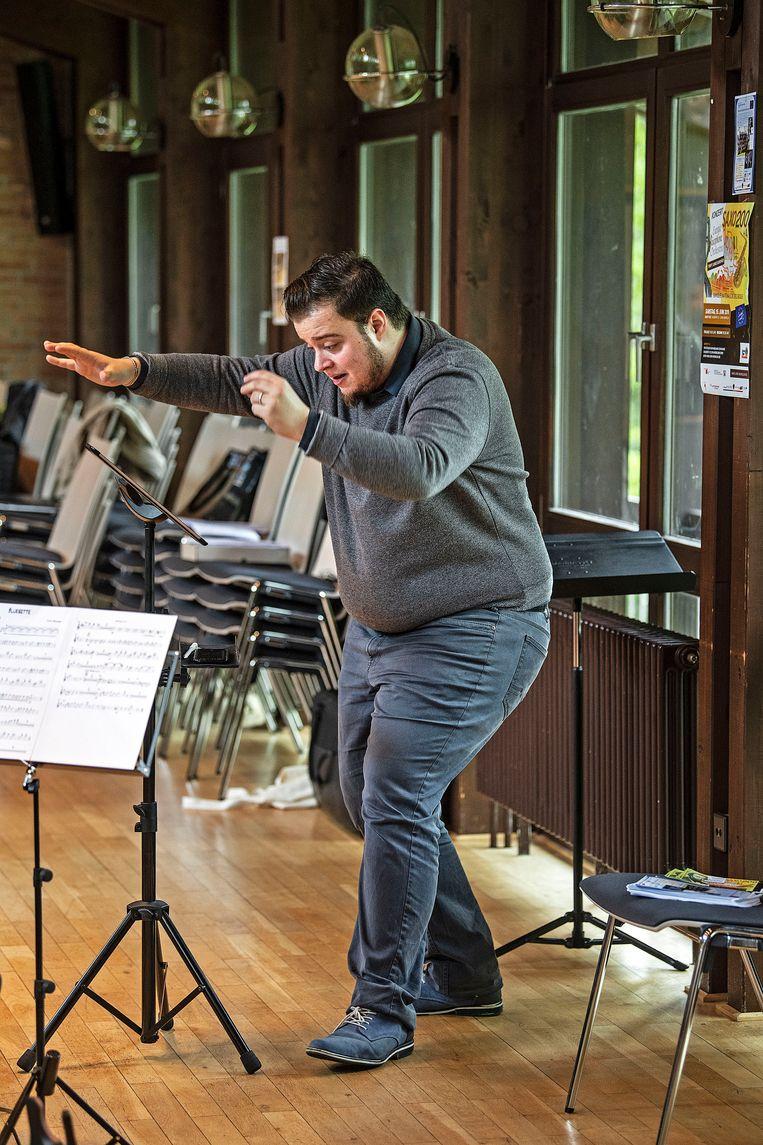 Repetitie Saxofoonorkest, dit bestaat uit leden van verschillende landen uit de Europese Unie, zoals België, Duitsland, Nederland, en Luxemburg.  Beeld Guus Dubbelman