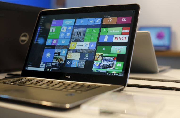 Een laptop met Windows 10 op de Build-conferentie in San Francisco. Beeld reuters