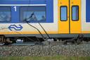 Brokstukken voor de trein bij Woerden