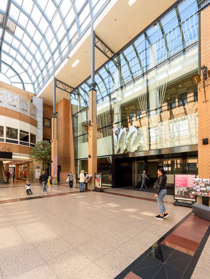 Muziekgebouw Eindhoven in de Heuvelgalerie.