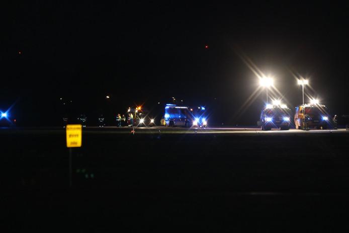 Hulpdiensten uitgerukt voor incident bij vliegbasis Volkel.