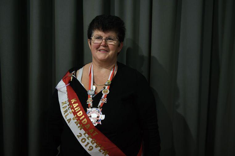 Karla Evers tijdens Internationaal prinsenbal, met verkiezing van Prins en Prinses van Vlaams-Brabant en 'Loven'.