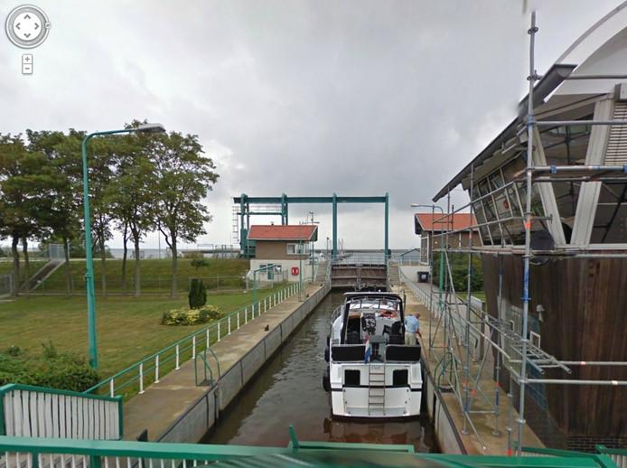 De Urker sluis. Foto: Google Streetview