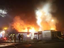 Voormalig dorpshuis De Koepel in Garderen brandt af