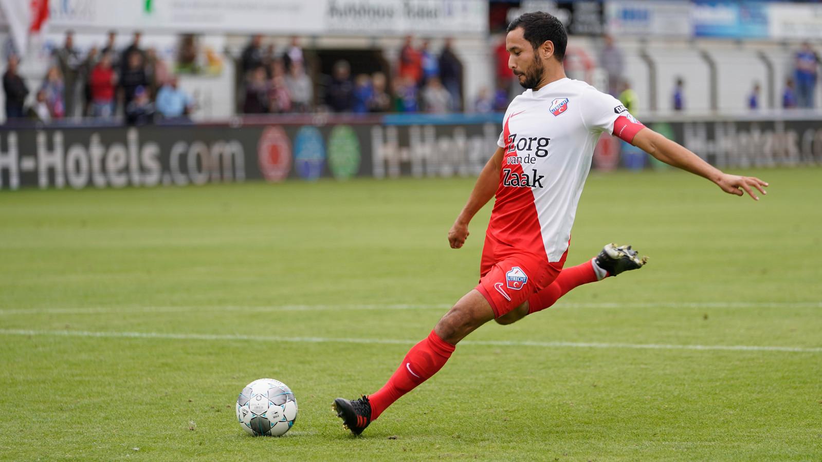 Mark van der Maarel tijdens de voorbereiding bij FC Utrecht.