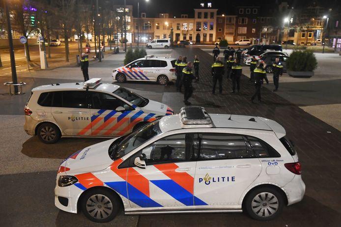 Veel politie op de been in Vlissingen.
