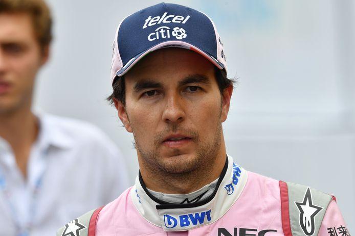 Sergio Pérez in Monza.